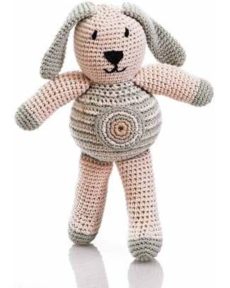 Pebble Pupazzo - Coniglietto Tortora con Pois - Cotone Bio (Altezza 20 cm) Pupazzi Crochet