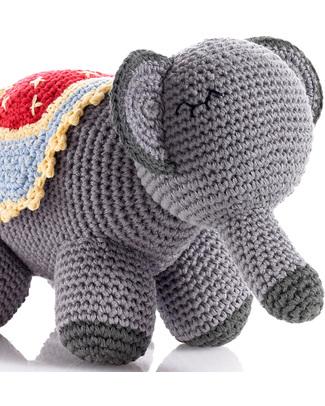 Pebble Pupazzo Elefante- Fair Trade - Lunghezza 22 cm Pupazzi Crochet