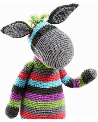 """Pebble Pupazzo """"Grandi Amici"""" - Asino - Fair Trade - Altezza 40 cm Pupazzi Crochet"""