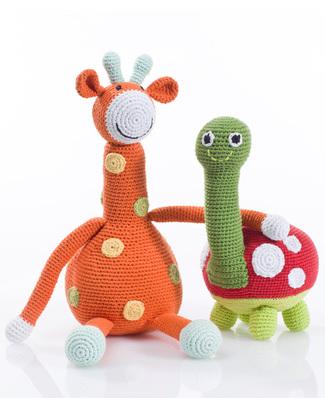 """Pebble Pupazzo """"Grandi Amici""""- Tartaruga (Lunghezza 28 cm) Pupazzi Crochet"""