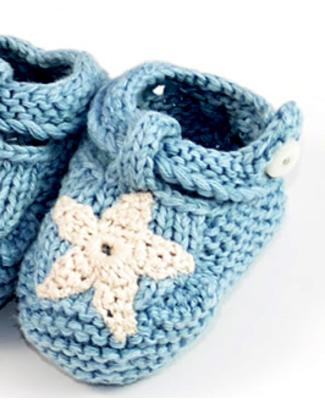 Pebble Scarpine Neonato Blu - Cotone Bio Pantofole