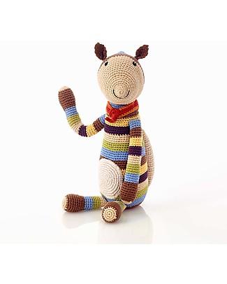 Pebble Scoiattolo Grande, 40 cm - 100% Cotone, Fairtrade Pupazzi Crochet