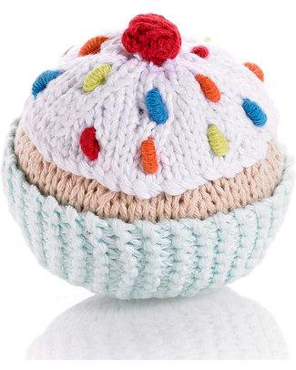 Pebble Sonagli Cupcake Panna - Celeste chiaro, glassa bianca e ciliegina - 8 cm Sonagli