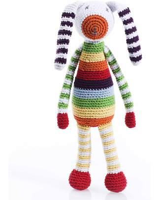 Pebble Sonaglio - Coniglietto Rainbow - Fair Trade (altezza cm 21) Sonagli