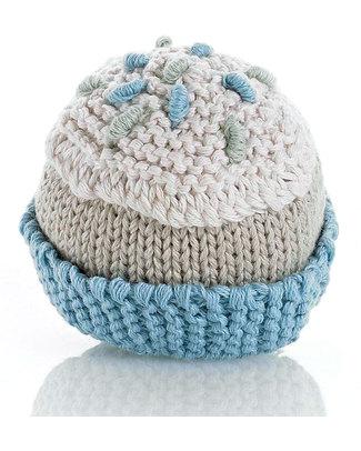Pebble Sonaglio Cupcake - 100% Cotone Bio - Celeste Sonagli