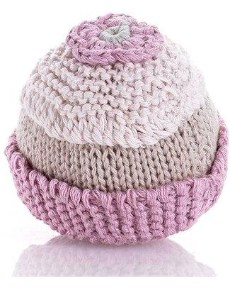 Pebble Sonaglio Cupcake - 100% Cotone Bio - Rosa Chiaro Sonagli