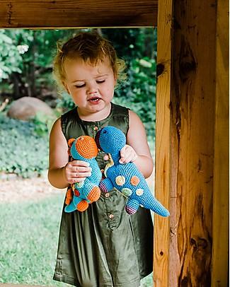 Pebble Sonaglio Dinosauro Dippi, Azzurro - Fair Trade  Sonagli