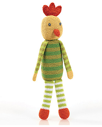 Pebble Sonaglio Gallina - 30 cm - Fair Trade Pupazzi Crochet