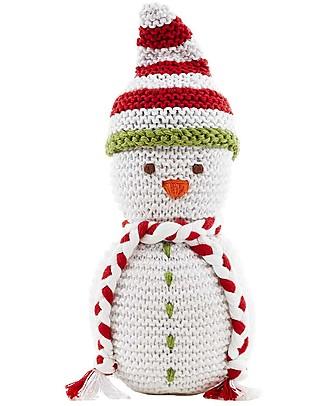 Pebble Sonaglio Pupazzo di Neve - Fair Trade (altezza 18 cm circa) Sonagli