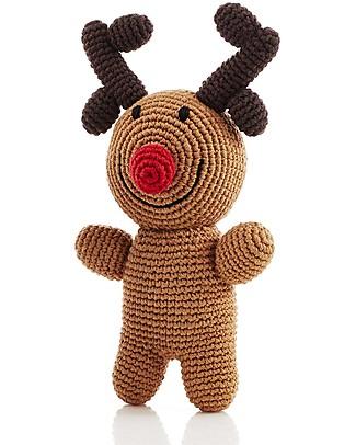 Pebble Sonaglio Rudolph la Renna - Fair Trade (altezza 18 cm circa) Sonagli