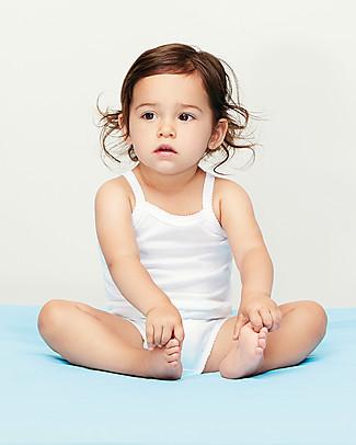 Petit Bateau Body Bebé Con Spalline, Bianco - Confezione da 2! Body Manica Corta