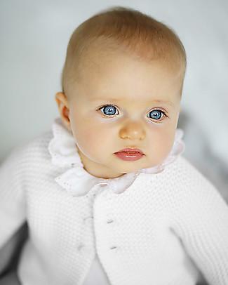 Petit Bateau Cardigan Giorno Baby, Bianco Cardigan
