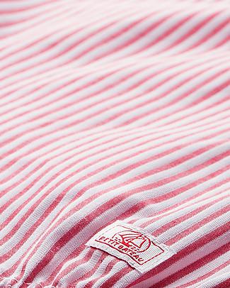 Petit Bateau Pagliaccetto a Palloncino con Volant, Bianco/Rosso - 100% cotone Tutine Corte