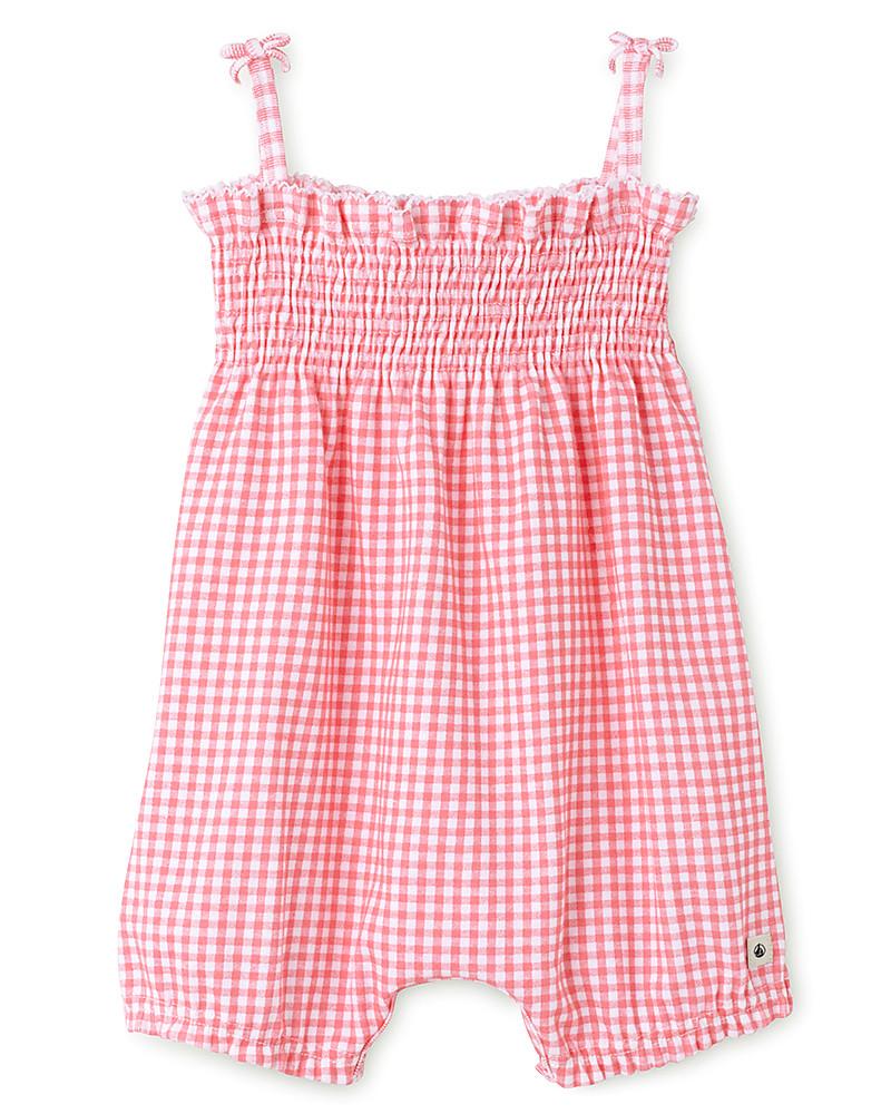 liquidazione a caldo buon servizio comprare a buon mercato Petit Bateau Tutina Pagliaccetto Begonia - Rosa bambina