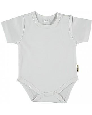 Petit Oh! Body Basic a Manica Corta, Bianco - Cotone Pima Body Manica Corta