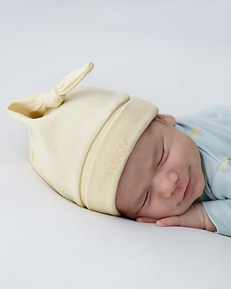 Petit Oh! Cappello con Nodo Bruc, Giallo - Cotone Pima Cappelli