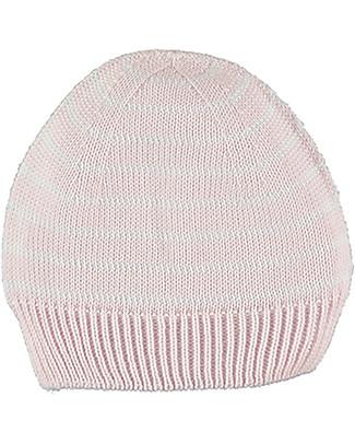 Petit Oh! Cappello Neonato Lavorato a Maglia, Rosa a Righe - 100% Cotone Cappelli