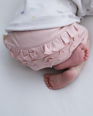 Petit Oh! Copripannolino con Balze Braguita, Rose - Cotone Pima Pantaloni Corti
