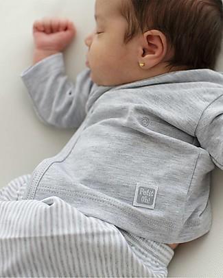 Petit Oh! Maglia Kimono, Grigio, Manche Lunghe - Cotone Pima Maglie Manica Lunga