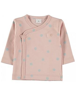 Petit Oh! Maglia Kimono, Rosa/Acqua - Cotone Pima Maglie Manica Lunga