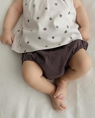 Petit Oh! Pantaloncino Copripannolino, Braguita, Grafite- 100% Cotone Pima Pantaloni Corti
