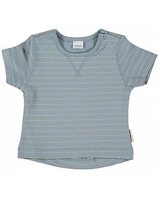 Petit Oh! T-Shirt Nube, Ghiaccio/Giallo - Cotone Pima T-Shirt e Canotte