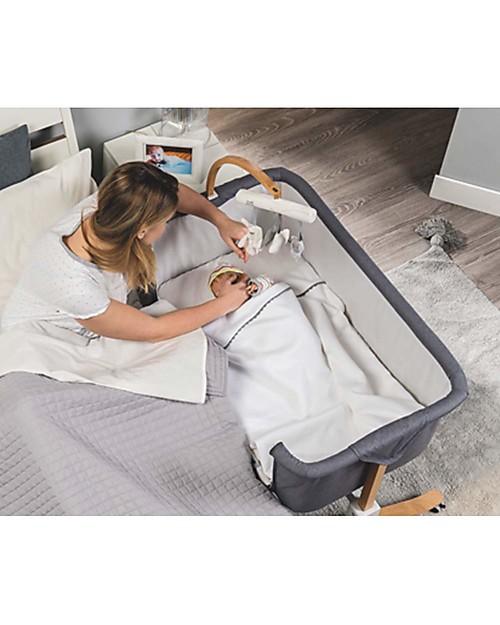 Picci Culla da Co-Sleeping You&Me, Grigio - Materasso e Giostrina inclusi! Lenzuolino OMAGGIO! Culle Co-Sleeping