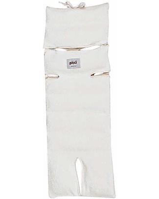 Picci Materassino Universale e Sfoderabile per Passeggino 80 x 29 cm, Panna - Pula di farro + bambù Materassi