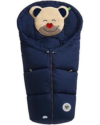 Picci Mucki Small con Clip, Blu - Sacco invernale universale per carrozzina e ovetto Sacchi Passeggino