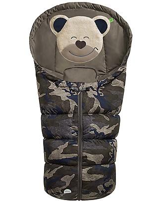 Picci Mucki Small con Clip, Camouflage - Sacco invernale universale per carrozzina e ovetto Sacchi Passeggino