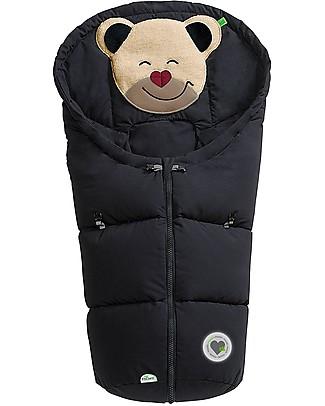 Picci Mucki Small con Clip, Nero - Sacco invernale universale per carrozzina e ovetto Sacchi Passeggino