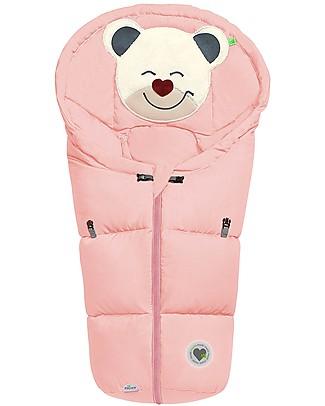 Picci Mucki Small con Clip, Rosa Cipria - Sacco invernale universale per carrozzina e ovetto Sacchi Passeggino