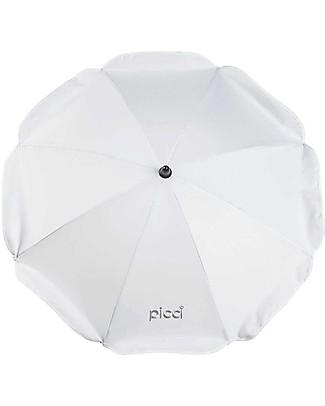 Picci Ombrellino Parasole Universale per Passeggino 72 cm, Bianco - Protezione UV 50+ Accessori