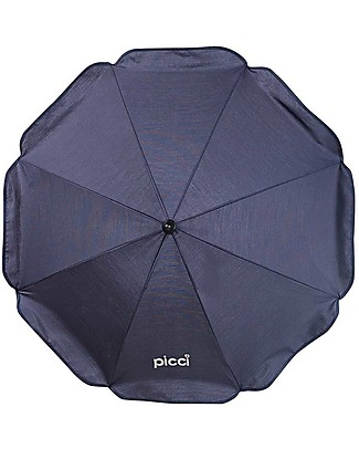 Picci Ombrellino Parasole Universale per Passeggino 72 cm, Blu - Protezione UV 50+ Accessori
