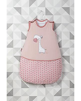 Picci Sacco Nanna Imbottito con Giraffa, Rosa – 70 cm, Jersey di Cotone Sacchi Nanna Pesanti