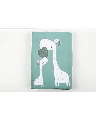 Picci Sonnocaldo, Coperta Baby in Pile, Acqua/Giraffa – 115 x 150 cm Coperte