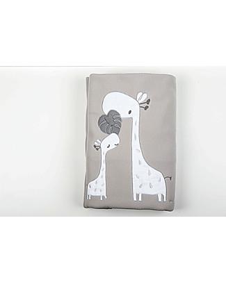 Picci Sonnocaldo, Coperta Baby in Pile, Grigio/Giraffa – 115 x 150 cm Coperte