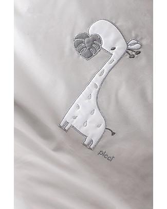 Picci Sonnocaldo, Coperta Baby in Pile, Grigio+Giraffa - 115 x 150 cm Coperte