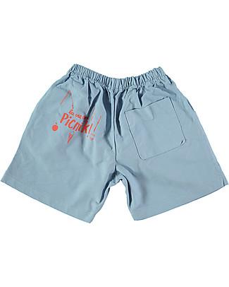 Picnik Bermuda La vie en, Celeste - 100% Cotone Pantaloni Corti