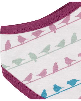 Pigeon - Organics for Kids Bavaglio Uccellini Viola - Cotone Bio Bavagli a Bandana