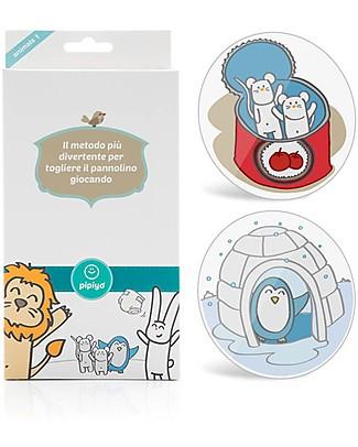 Pipiyo 2 Stickers + Metodo Magico per Togliere il Pannolino – Pinguino e Topolino Vasini