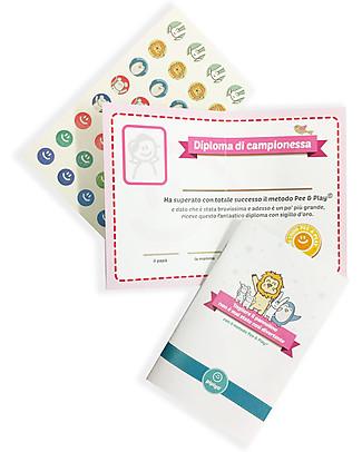 Pipiyo 2 Stickers + Metodo Magico per Togliere il Pannolino - Pinguino e Topolino Vasini