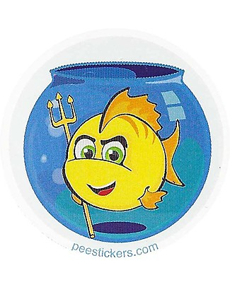 Pipiyo Sticker Magico per Togliere il Pannolino, Pesciolino - Dura oltre 1000 pipì! Vasini