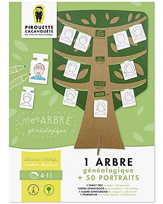 Pirouette Cacahouète Il Mio Albero Genealogico - in cartone riciclato Carta e Cartone