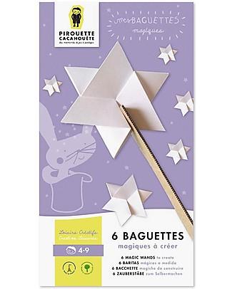 Pirouette Cacahouète Le Mie Bacchette Magiche - Cartone Riciclato (6 pezzi) Carta e Cartone