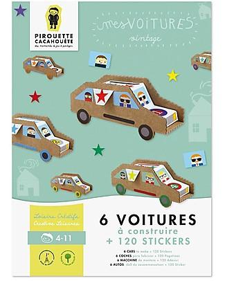 Pirouette Cacahouète Le Mie Macchinine - Cartone Riciclato (6 Pezzi)  Carta e Cartone