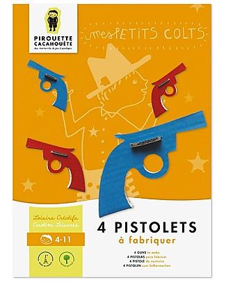 Pirouette Cacahouète Le Mie Piccole Colts! - Pistole in cartone riciclato Carta e Cartone