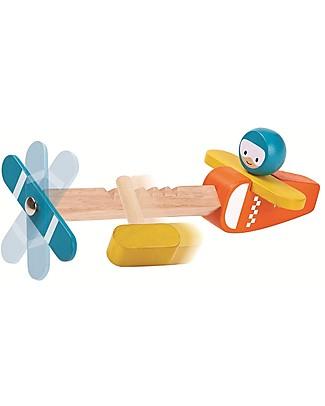PlanToys Aereoplano Spin n Fly in Legno - Fallo Girare! Giochi all'Aperto