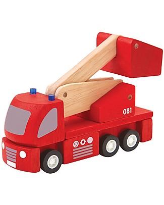 PlanToys Autopompa dei Pompieri Giocattolo in Legno - Ecologico e Sicuro! Macchine e Trenini  in Legno