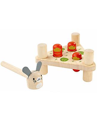 PlanToys Coniglio Goloso in Legno - Eco-friendly e divertente! Construzioni In Legno